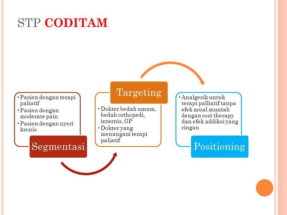 STP CODITAM Segmentasi Targeting Positioning