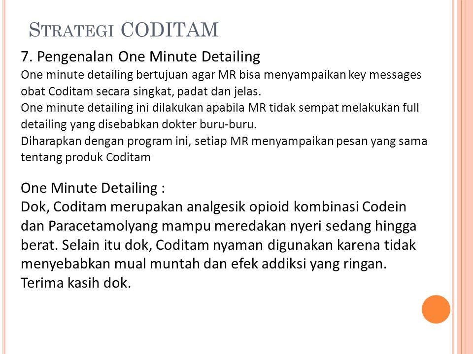 Strategi CODITAM 7. Pengenalan One Minute Detailing