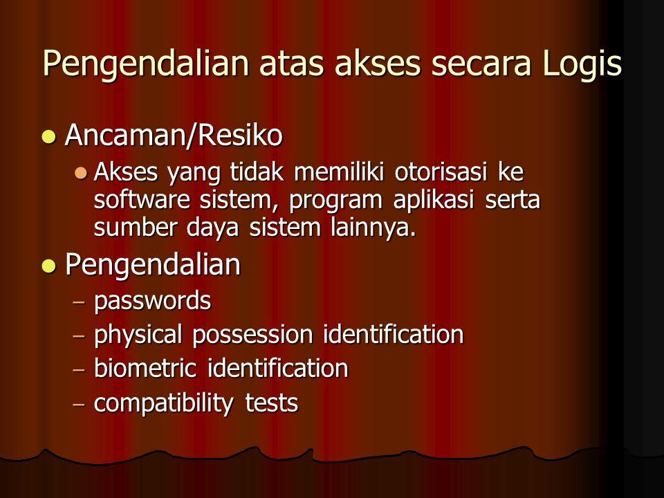 Pengendalian atas akses secara Logis