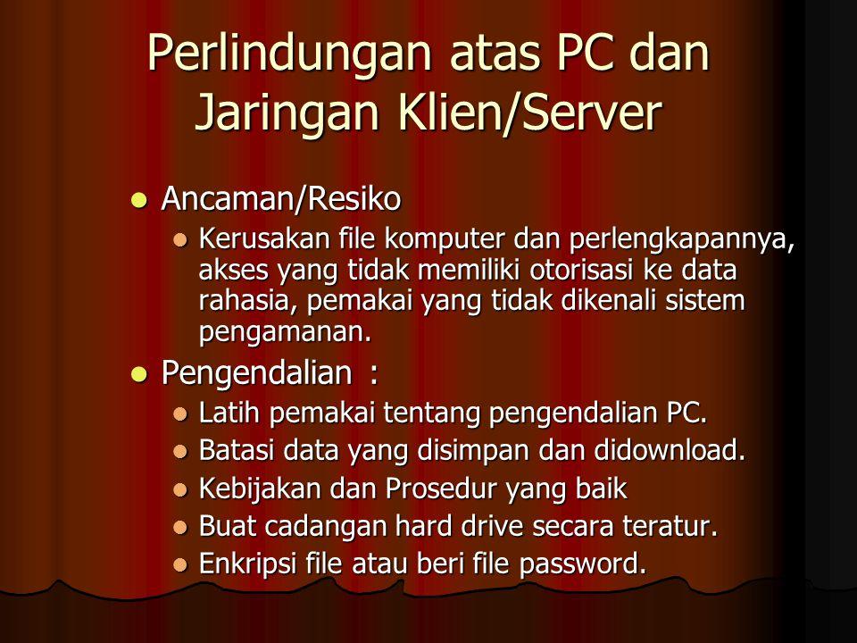 Perlindungan atas PC dan Jaringan Klien/Server