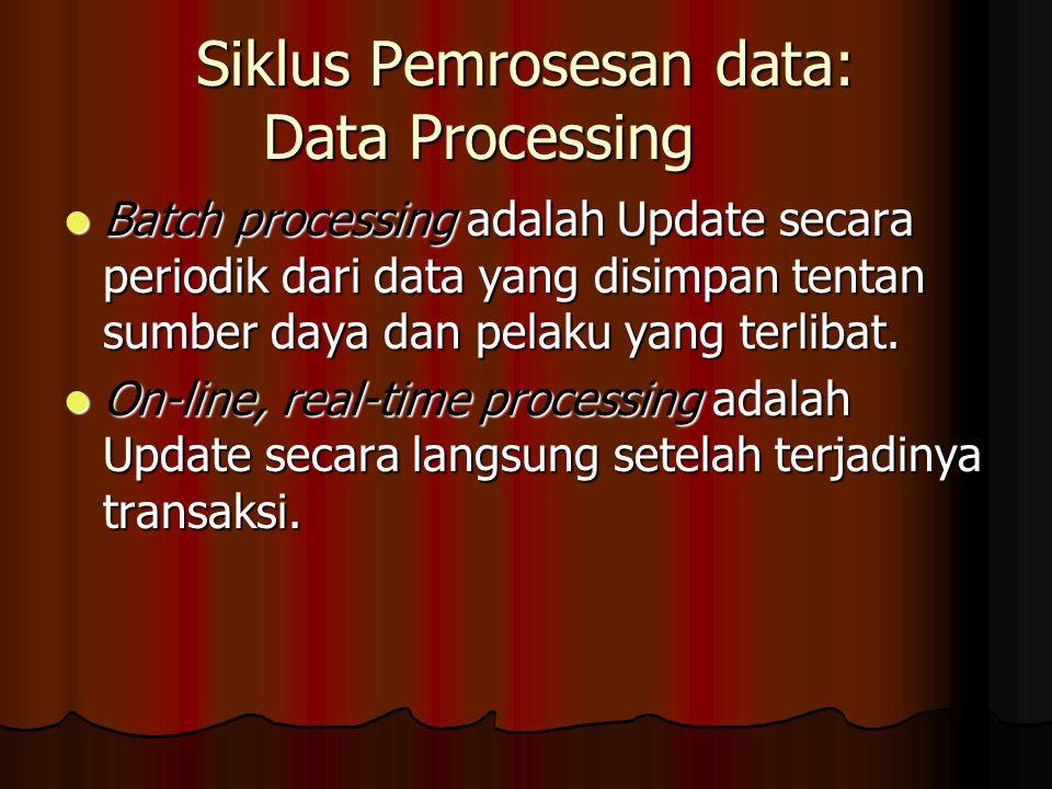 Siklus Pemrosesan data: Data Processing