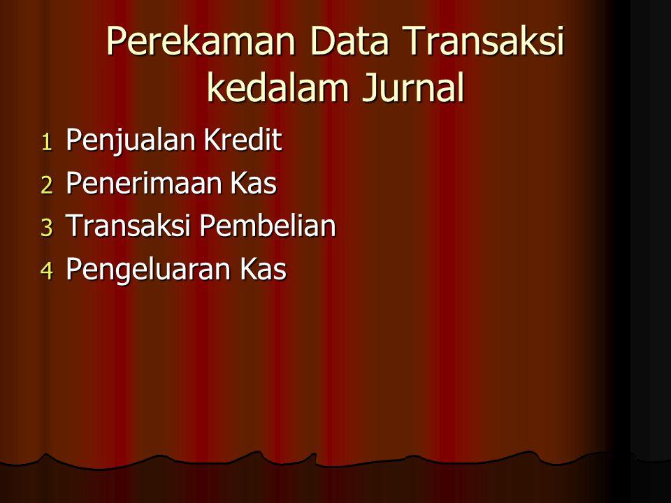 Perekaman Data Transaksi kedalam Jurnal