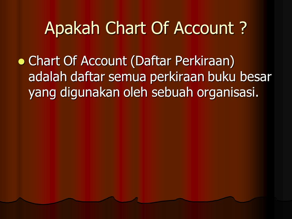 Apakah Chart Of Account