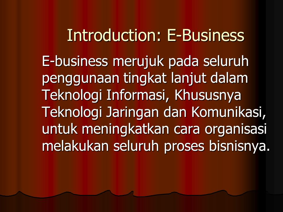 Introduction: E-Business