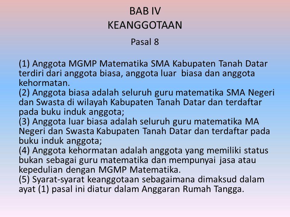 BAB IV KEANGGOTAAN