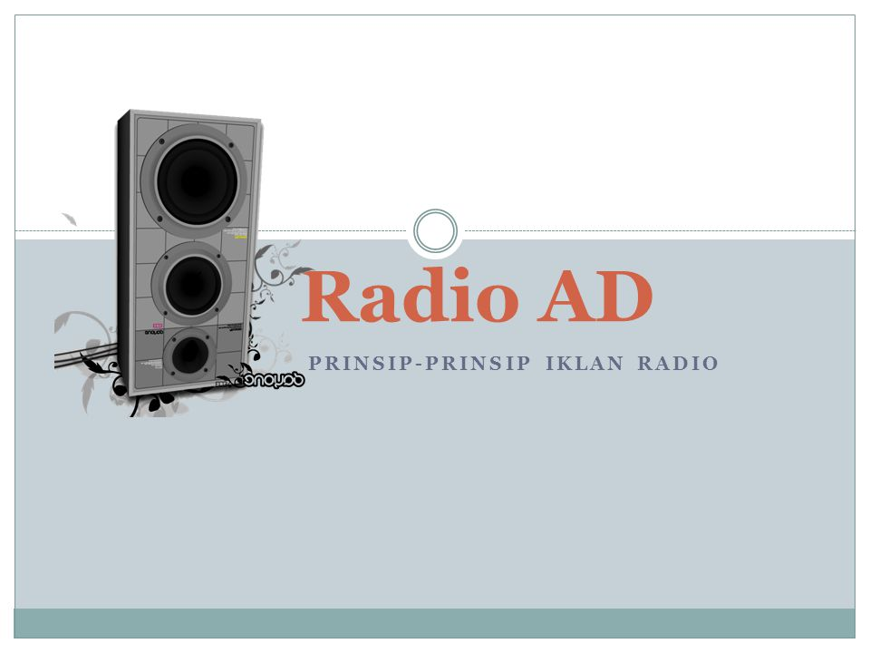 Prinsip-prinsip Iklan Radio