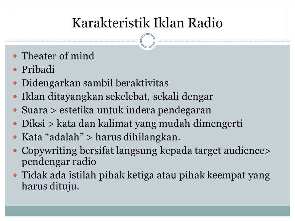 Karakteristik Iklan Radio