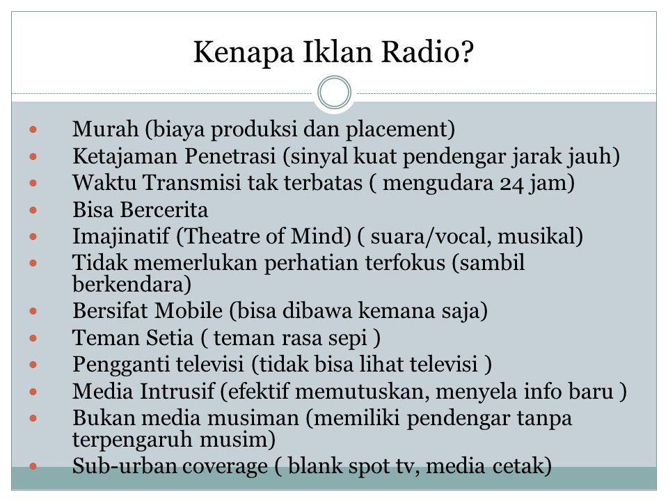 Kenapa Iklan Radio Murah (biaya produksi dan placement)