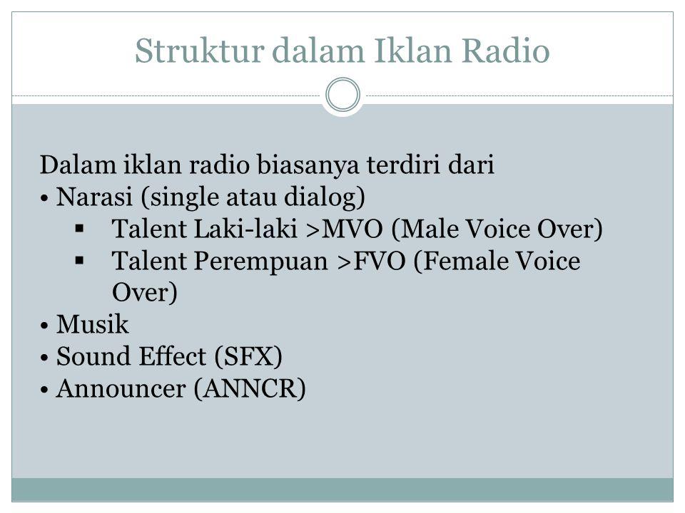 Struktur dalam Iklan Radio