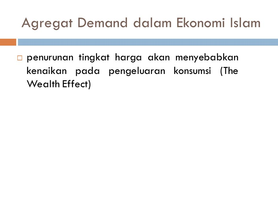 Agregat Demand dalam Ekonomi Islam