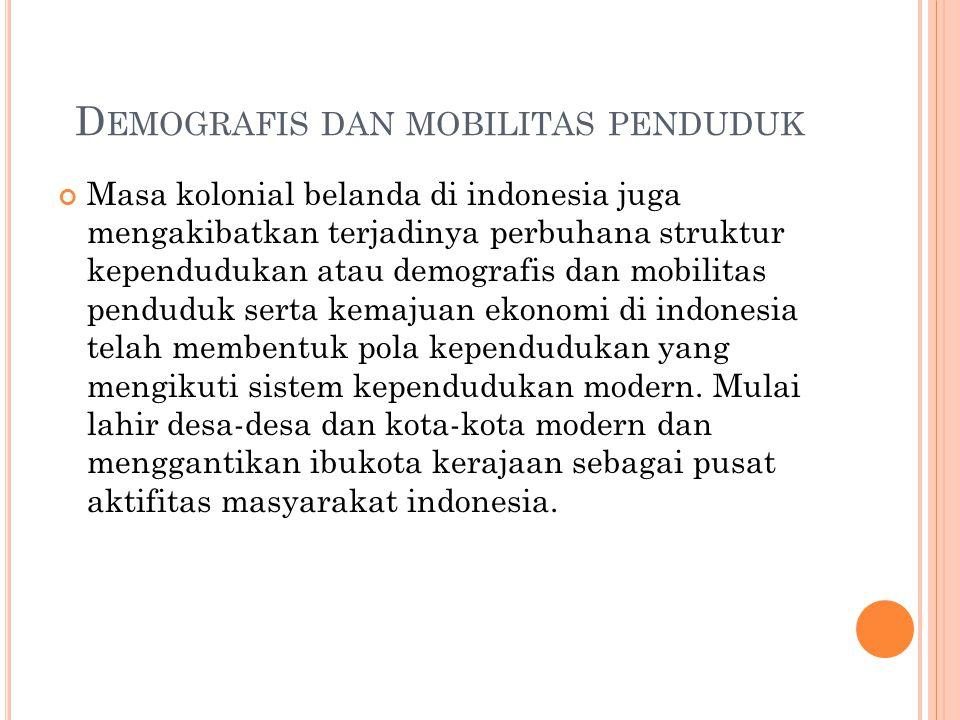 Demografis dan mobilitas penduduk