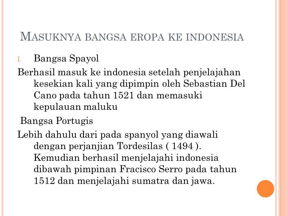 Masuknya bangsa eropa ke indonesia