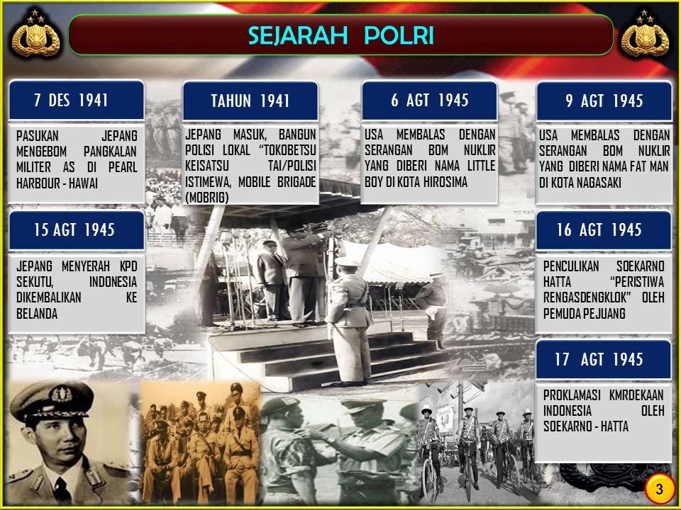 SEJARAH POLRI 7 DES 1941 TAHUN 1941 6 AGT 1945 9 AGT 1945 15 AGT 1945