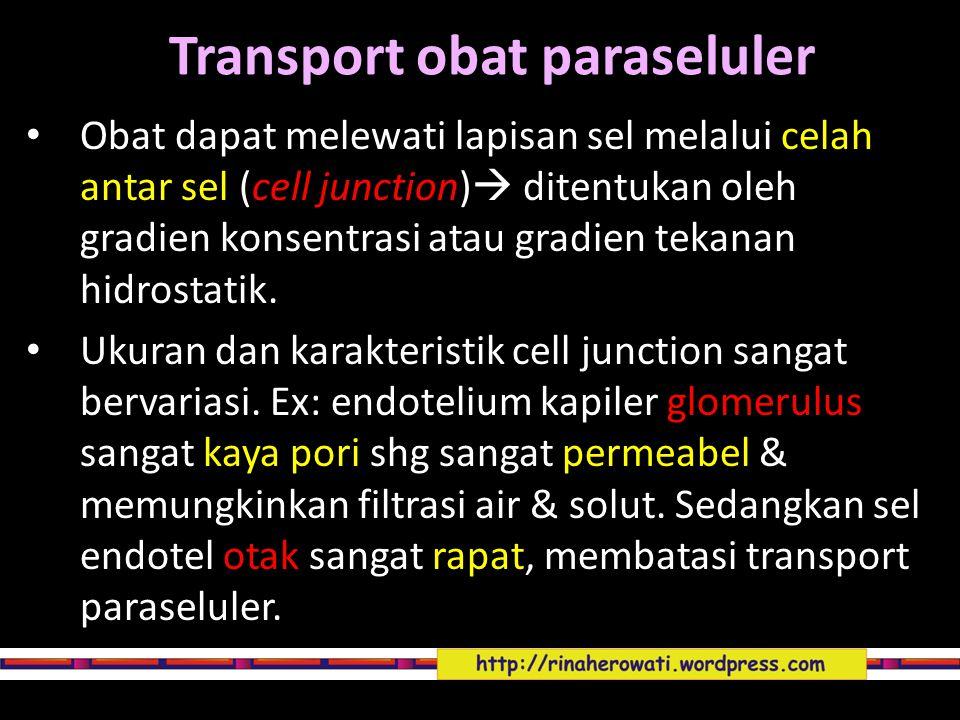 Transport obat paraseluler