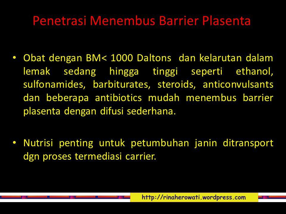Penetrasi Menembus Barrier Plasenta