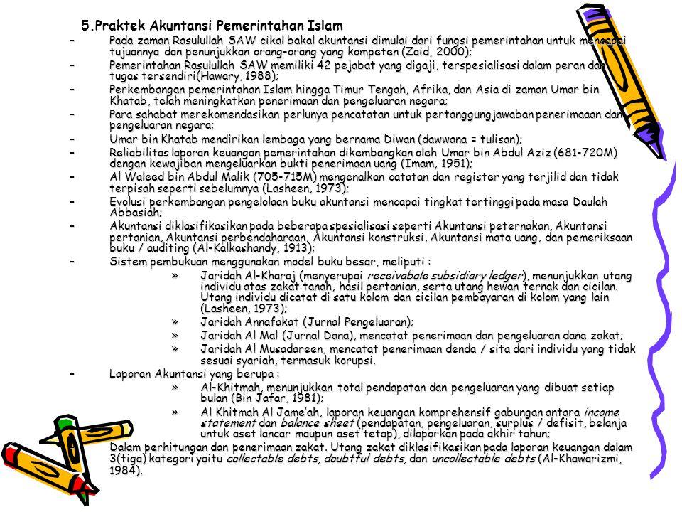 5.Praktek Akuntansi Pemerintahan Islam