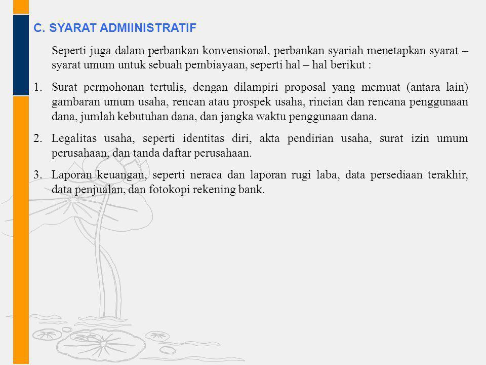C. SYARAT ADMIINISTRATIF