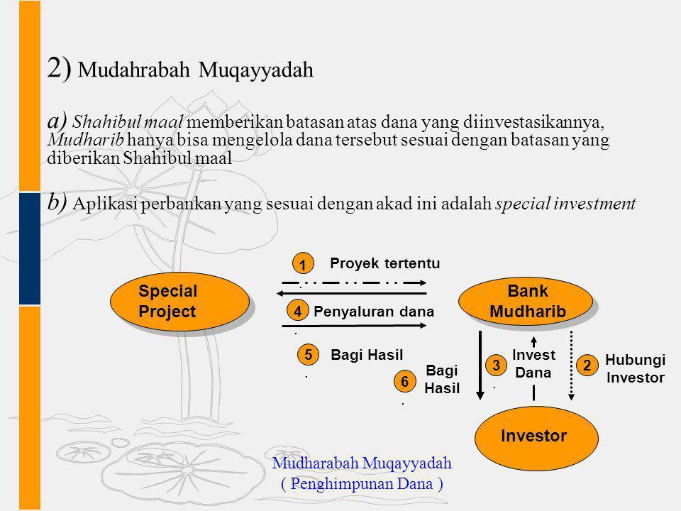 Mudharabah Muqayyadah ( Penghimpunan Dana )