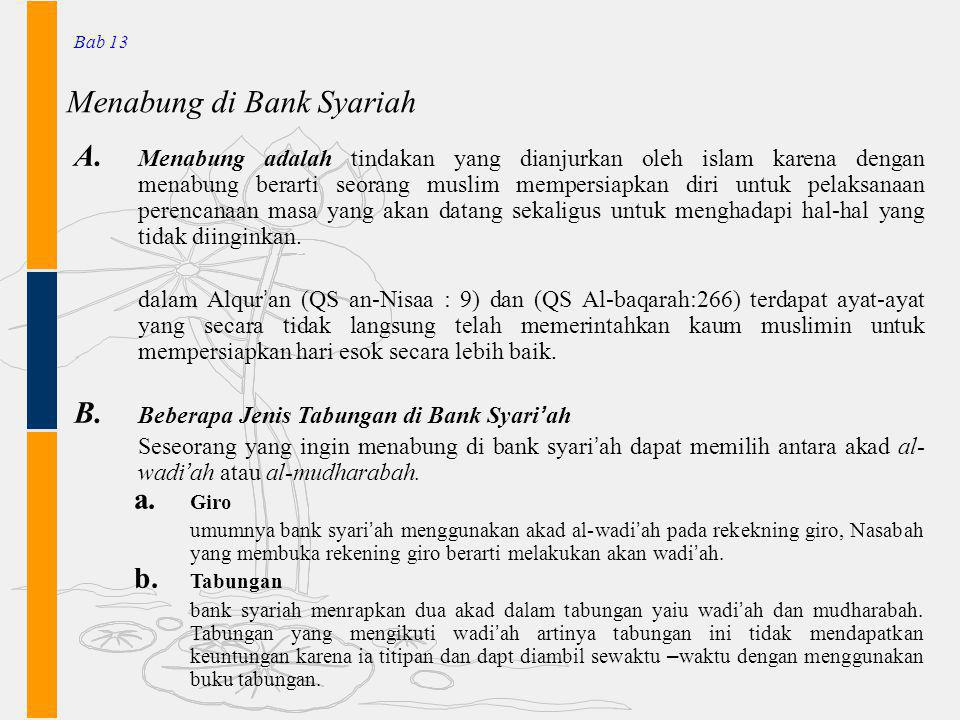 Menabung di Bank Syariah