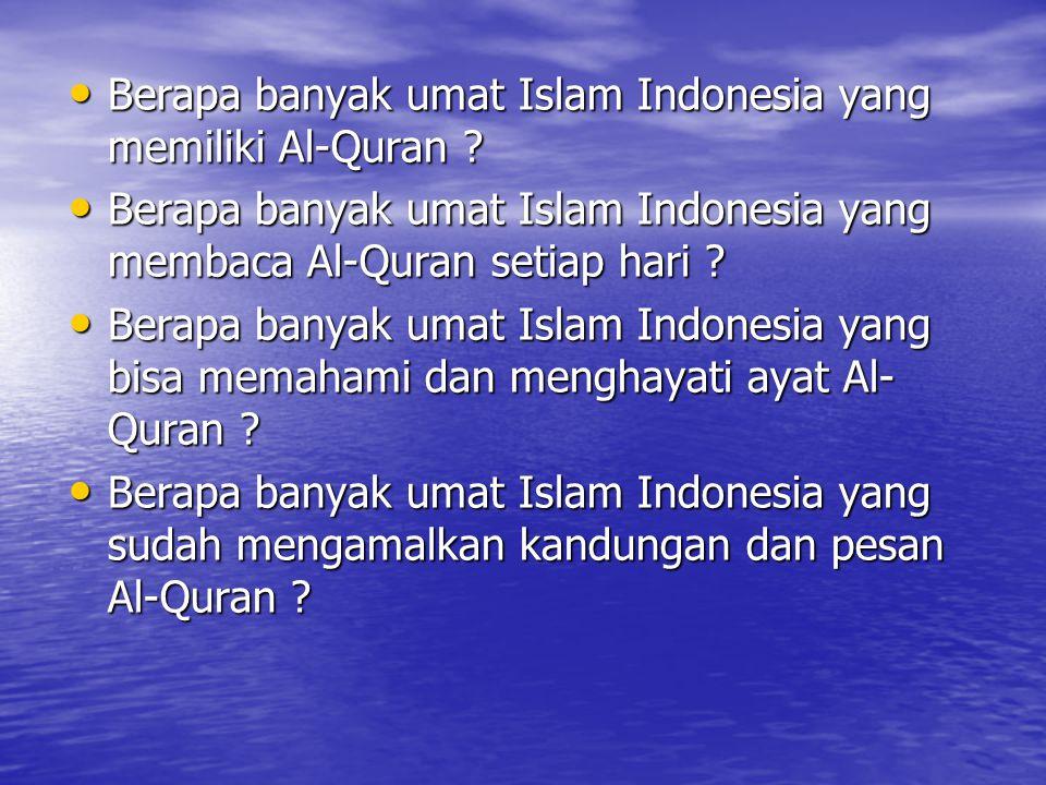 Berapa banyak umat Islam Indonesia yang memiliki Al-Quran