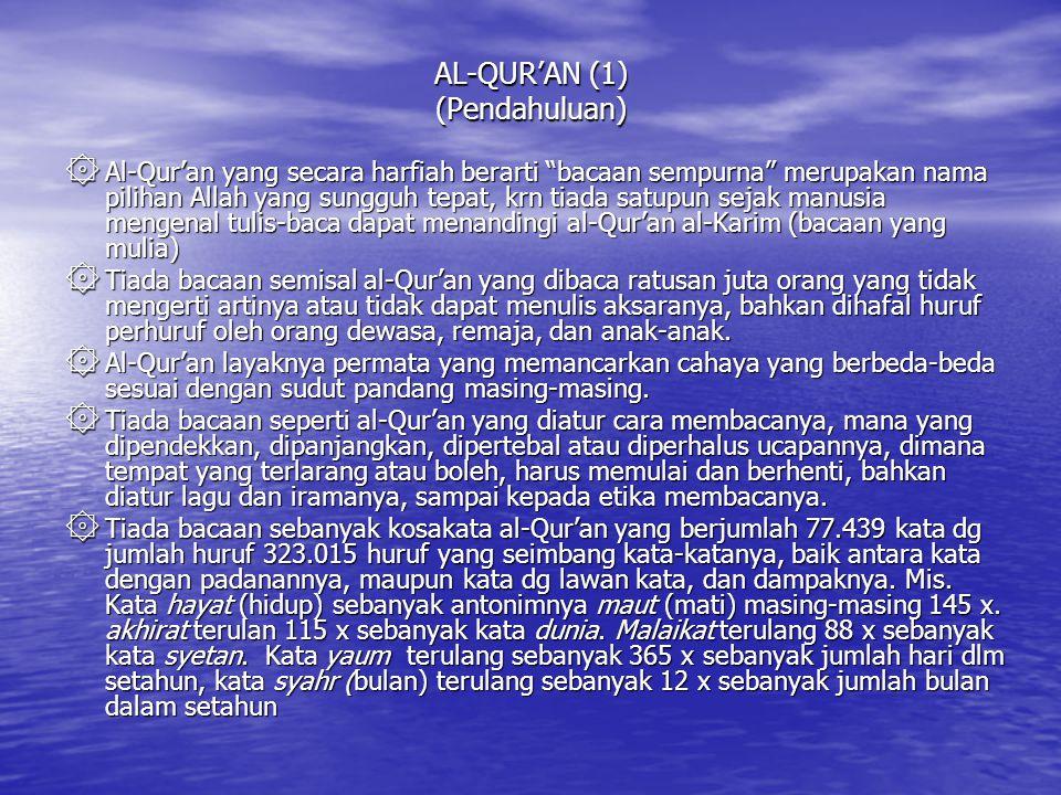AL-QUR'AN (1) (Pendahuluan)
