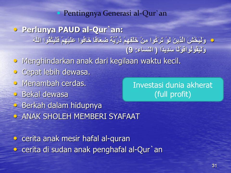 Pentingnya Generasi al-Qur`an