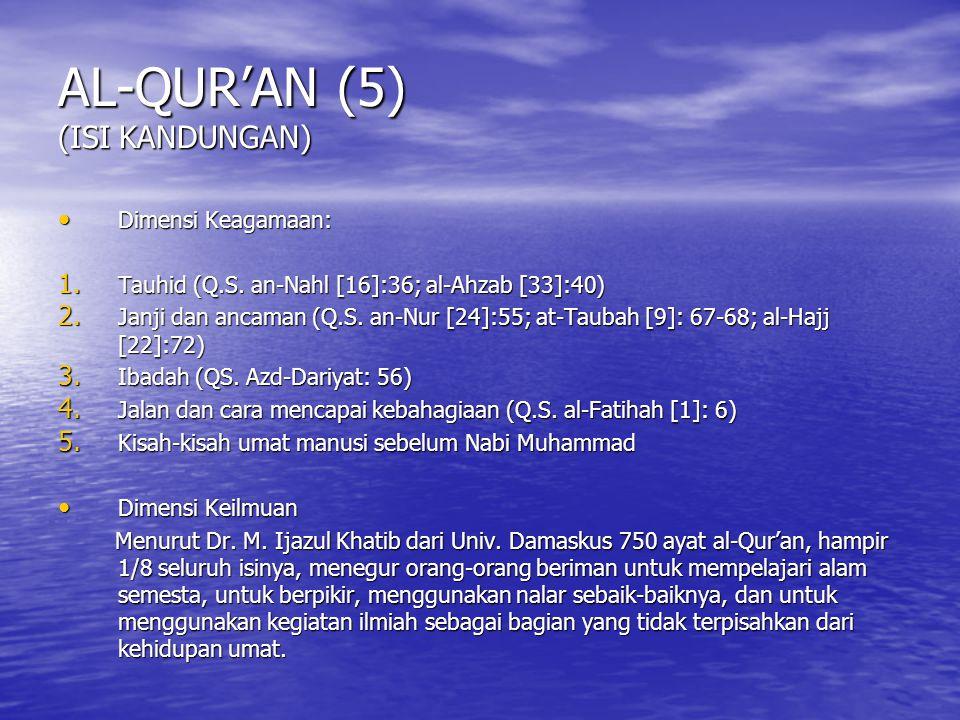 AL-QUR'AN (5) (ISI KANDUNGAN)