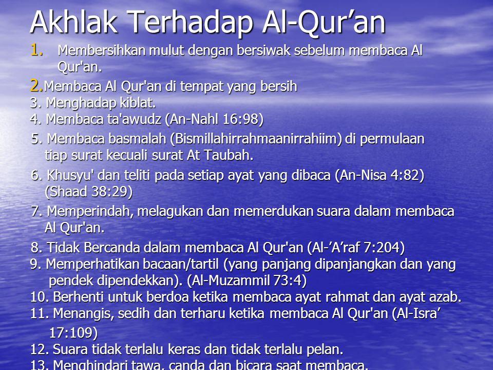 Akhlak Terhadap Al-Qur'an