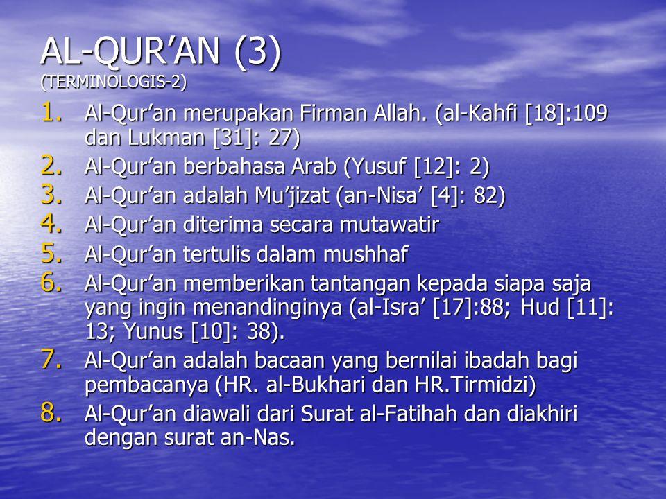 AL-QUR'AN (3) (TERMINOLOGIS-2)