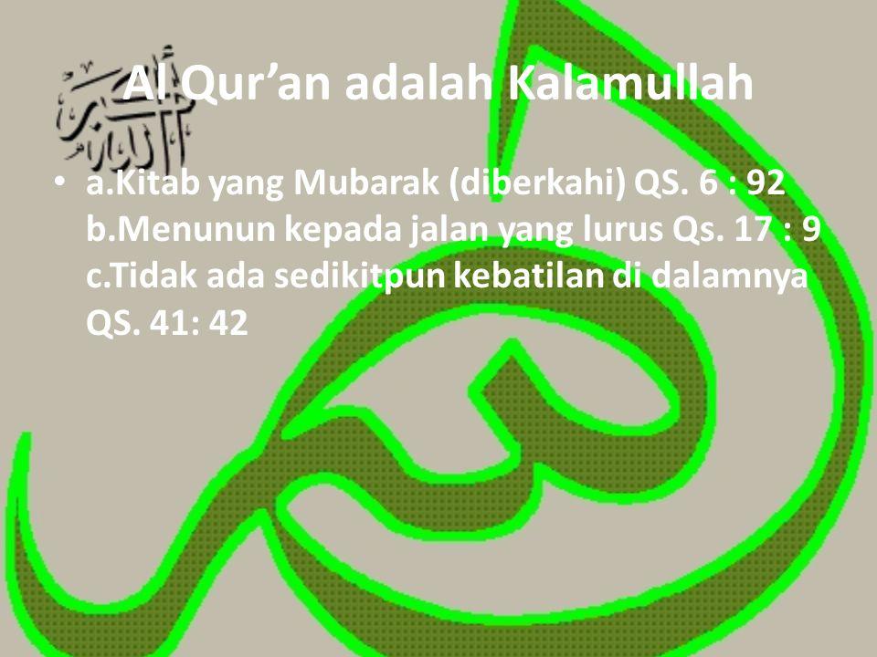 Al Qur'an adalah Kalamullah