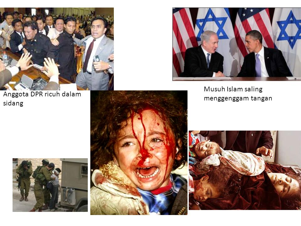 Musuh Islam saling menggenggam tangan