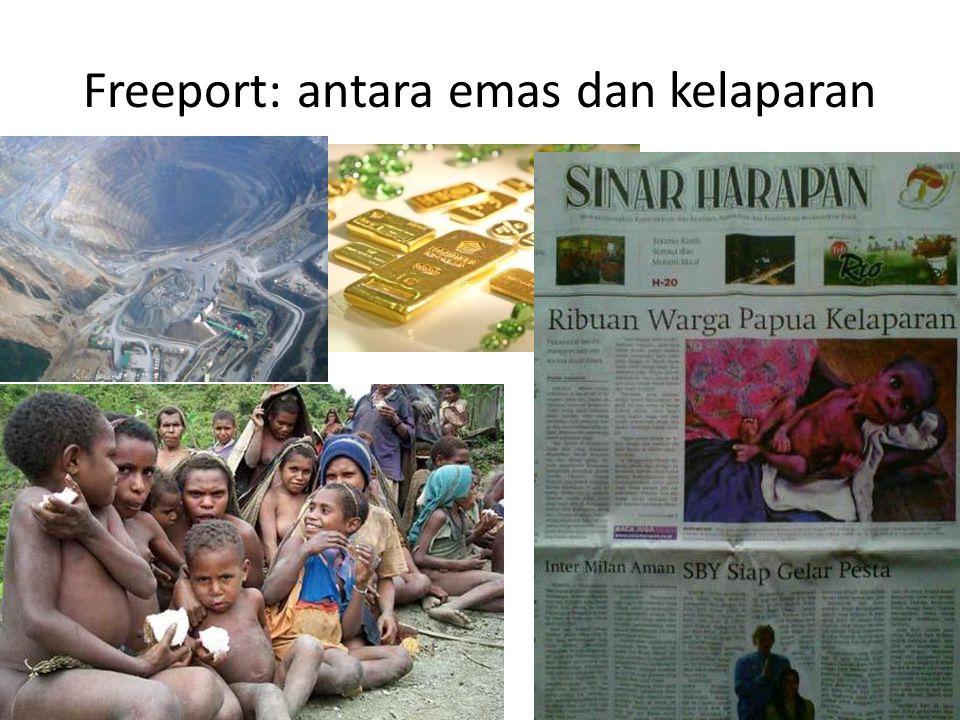 Freeport: antara emas dan kelaparan