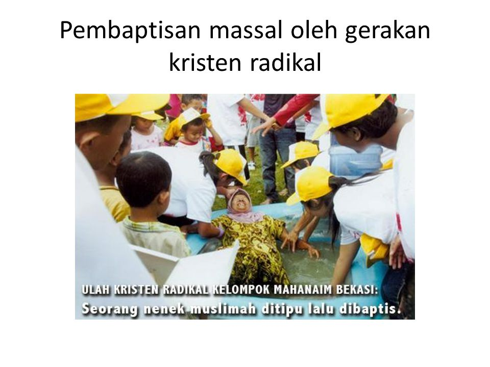 Pembaptisan massal oleh gerakan kristen radikal