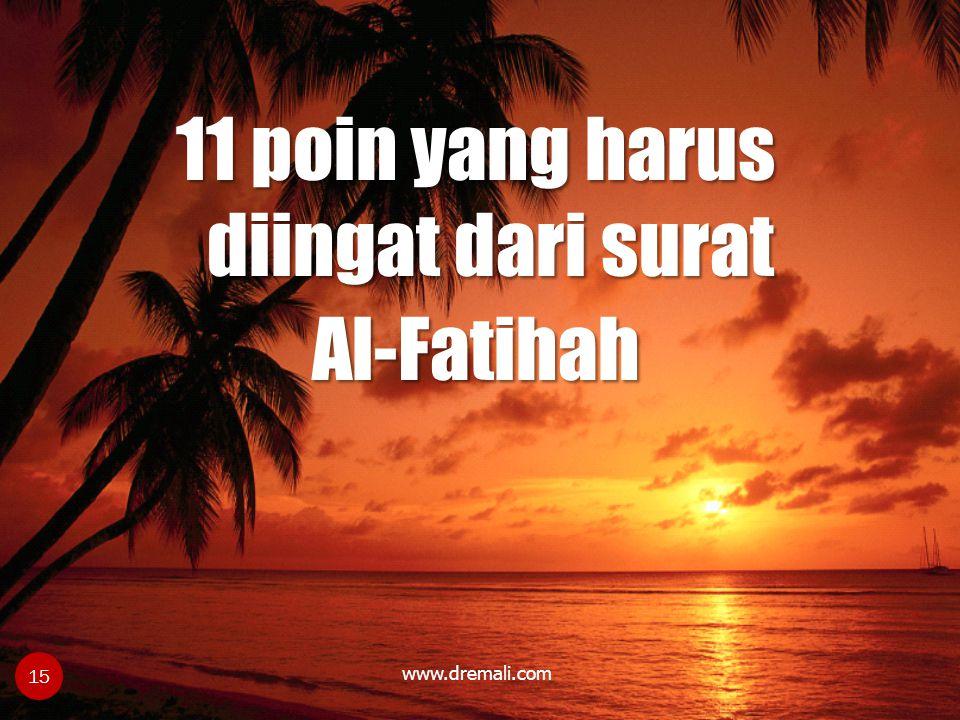 11 poin yang harus diingat dari surat Al-Fatihah