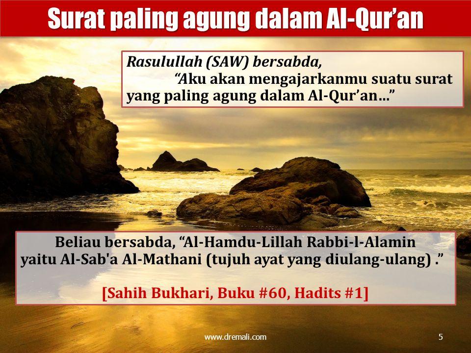 Surat paling agung dalam Al-Qur'an