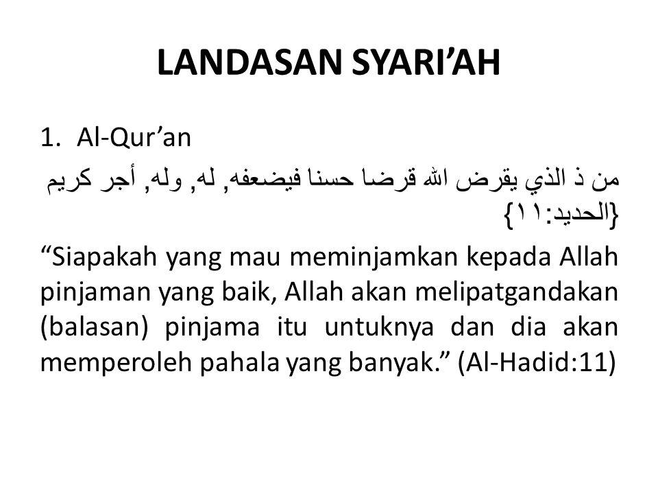 LANDASAN SYARI'AH Al-Qur'an