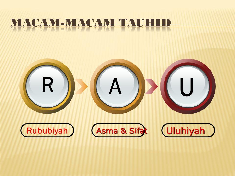 MACAM-MACAM TAUHID R A U Rububiyah Asma & Sifat Uluhiyah