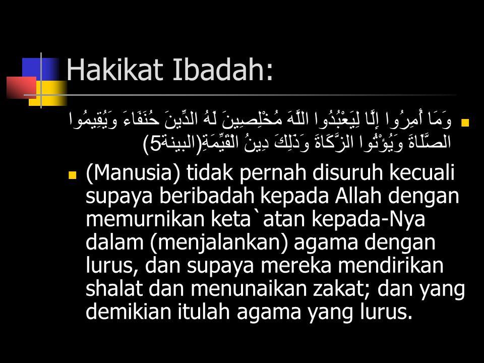 Hakikat Ibadah: