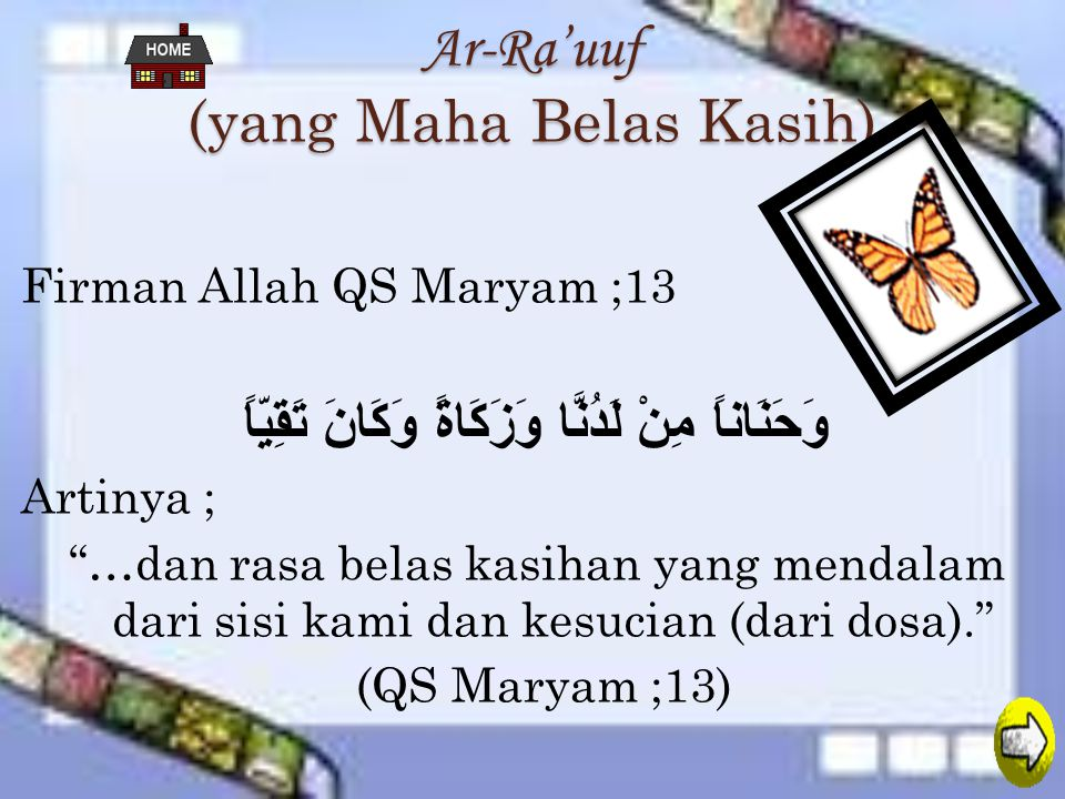 Ar-Ra'uuf (yang Maha Belas Kasih)