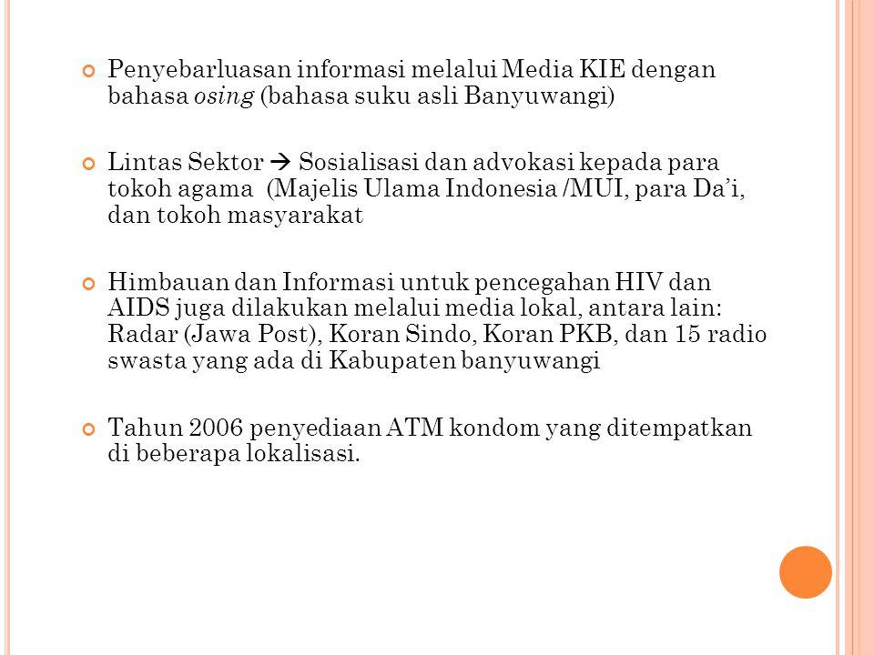 Penyebarluasan informasi melalui Media KIE dengan bahasa osing (bahasa suku asli Banyuwangi)