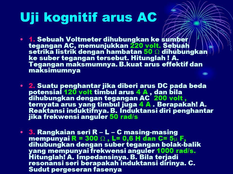 Uji kognitif arus AC