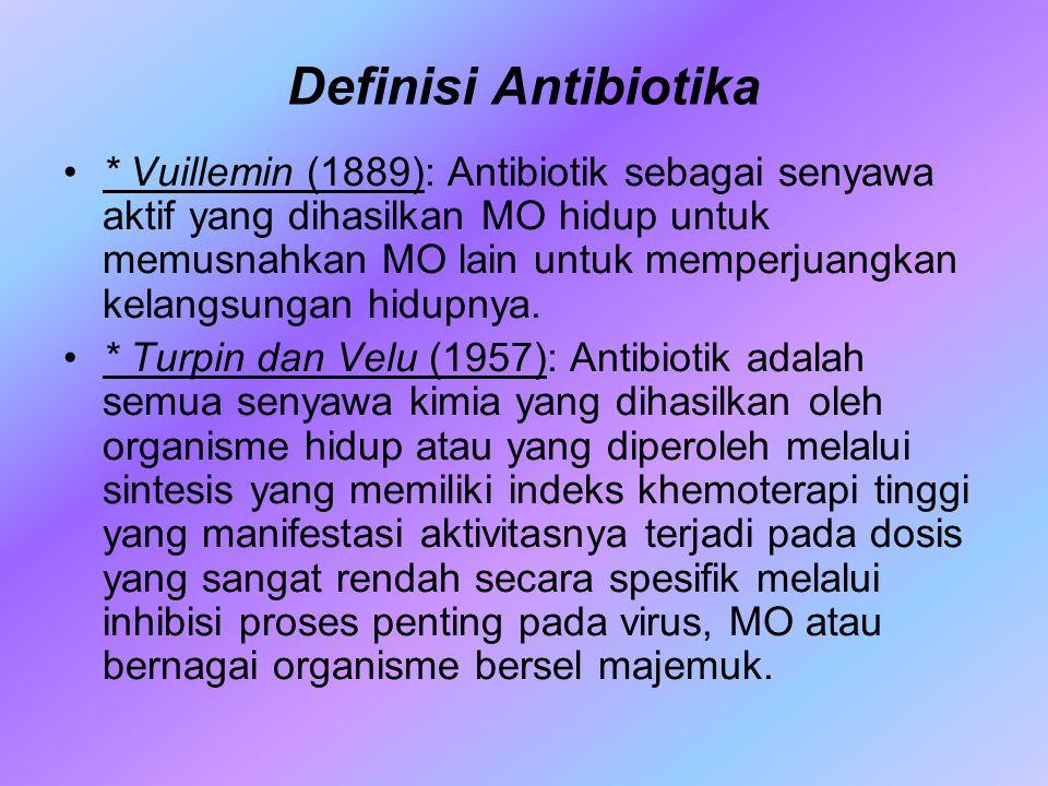 Definisi Antibiotika