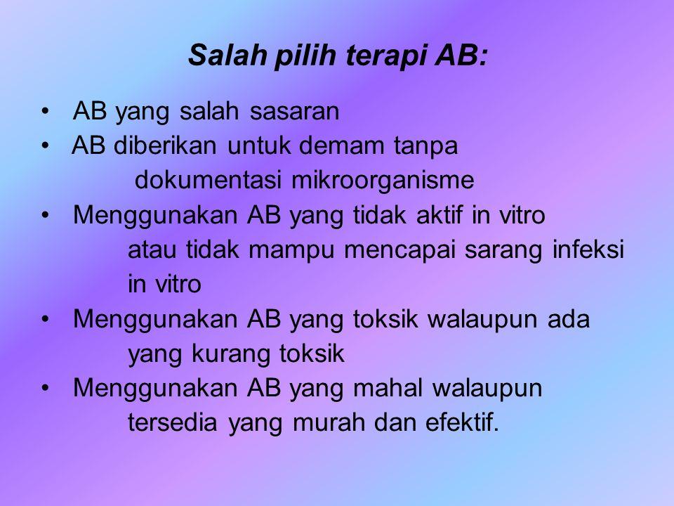 Salah pilih terapi AB: AB yang salah sasaran