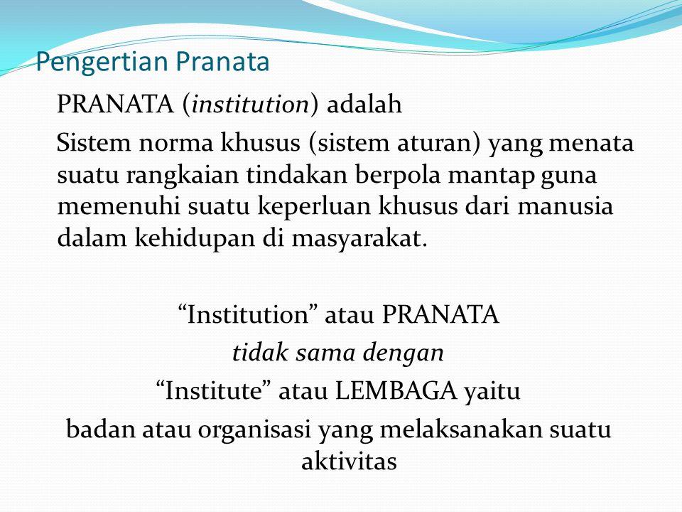 Pengertian Pranata