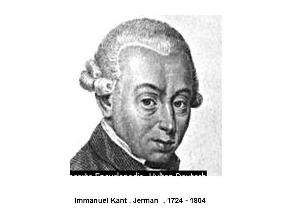 Immanuel Kant , Jerman , 1724 - 1804