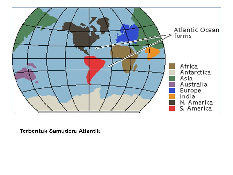 Terbentuk Samudera Atlantik