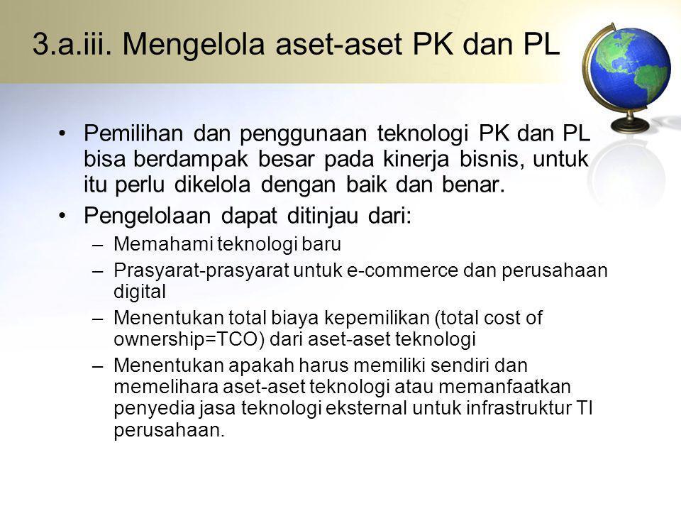 3.a.iii. Mengelola aset-aset PK dan PL