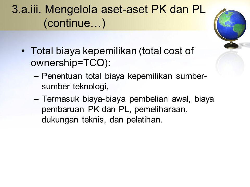 3.a.iii. Mengelola aset-aset PK dan PL (continue…)