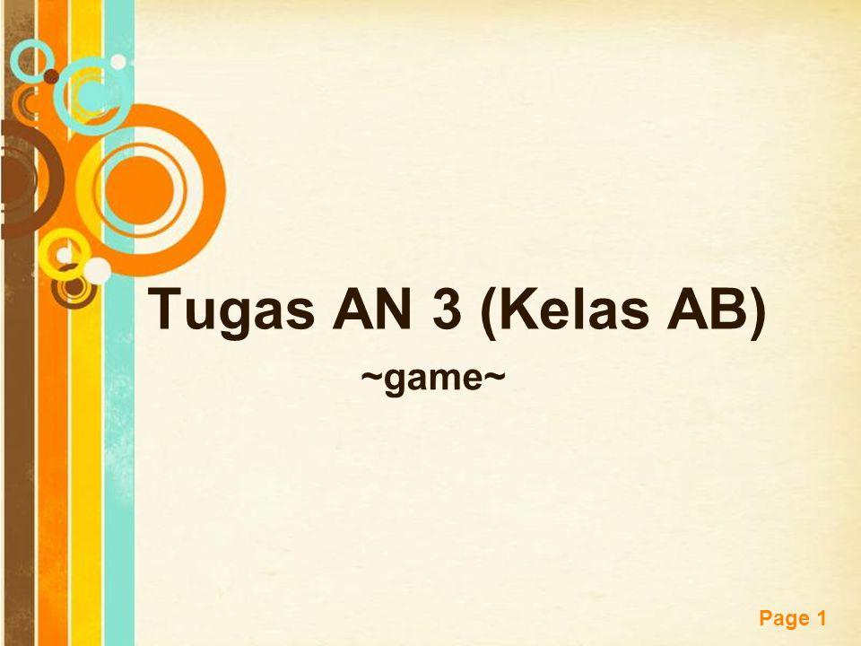 Tugas AN 3 (Kelas AB) ~game~