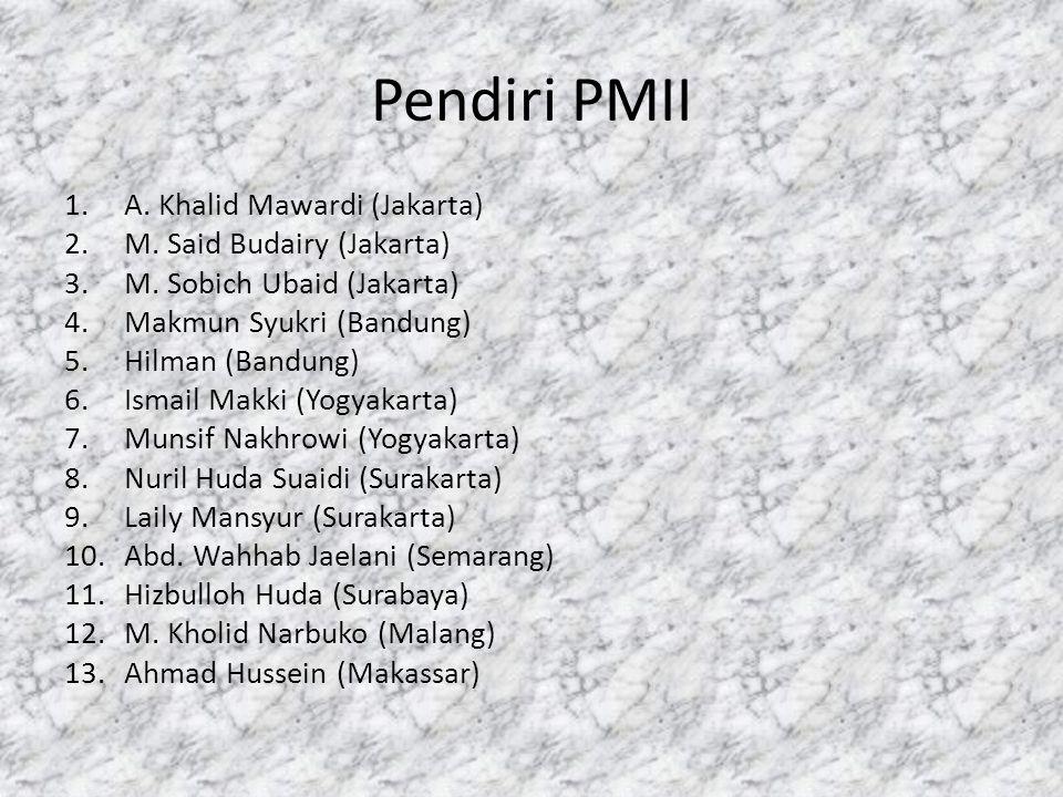 Pendiri PMII A. Khalid Mawardi (Jakarta) M. Said Budairy (Jakarta)